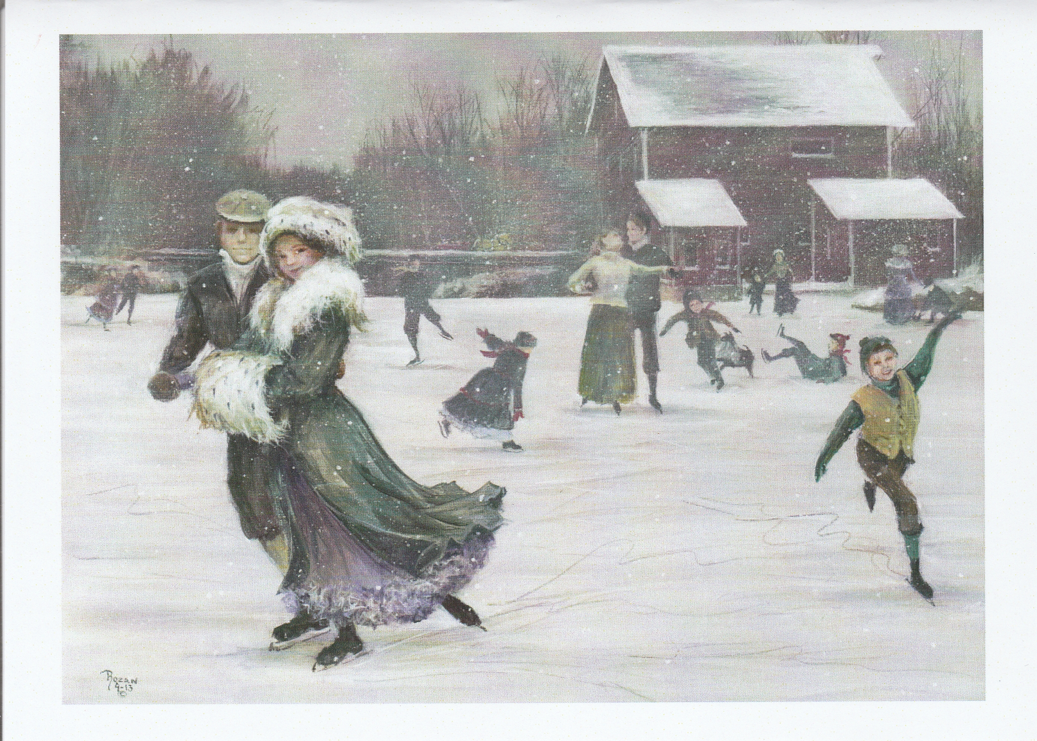 A Winter's day on Dell's Pond